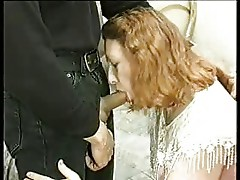 Old Redhead with saggy tits Anal