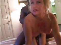 Mature with 2 Black Cocks