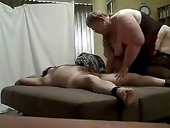 huge bbw riding her tied up man