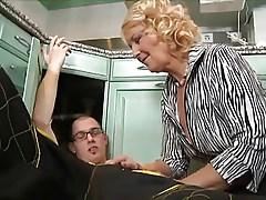 Cougar Enjoys The Plumbers Ball Cock