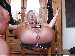 How to use both holes of my mature sub wife. Extreme