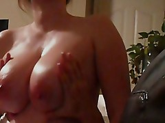 Natural Beauties - oily tits bounce as I slowly ride