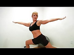 Mature strip and does yoga