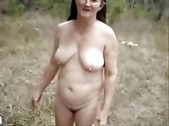 True amateur old slut showing outdoor.