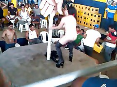 hairy wife is dancing nude in public