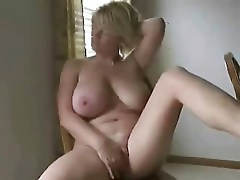 Busty mature wife with great body masturbates for me