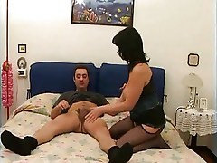 mature blowjob anal bed