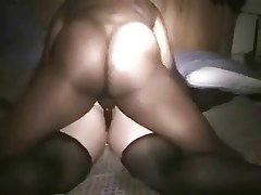 Wife fucks with black while her husband films