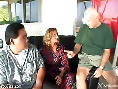 Mature Blonde Wife Takes A Good Anal Pounding While Husband Watches