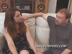 Sexy milf fulfills pornstar dream as she sucks on a couple of cocks