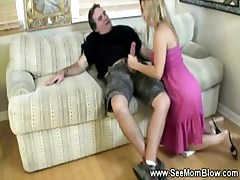 MILF and daughter buffing the knob