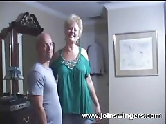 Mature swinger blowjob