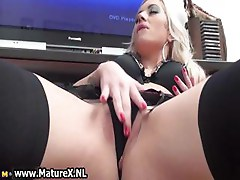 Naughty blonde housewife takes her part5