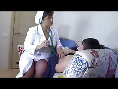 Busty mature Russian woman in nylons eats cock and gets nailed
