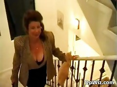 Brunette MILF receives numb pecker part1