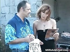 Outdoor session with kinky brunette MILF part5