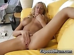 Bigtits steamy mother plays with her vag part3