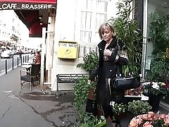 FRENCH MATURE 6 blonde mom in threesome