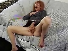 Mature RedHead Trudy True Masturbates Before Getting Fucked