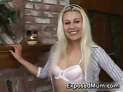 Blonde sexy milf is hot to bone part6
