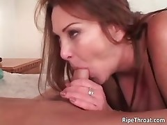 Horny redhead MILF sucks stiff cock part6