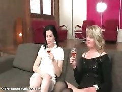 Hot blonde and brunette lesbians part6