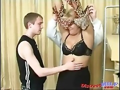Mature Russian slut get double penetrated