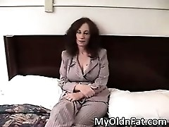 Nasty brunette MILF with big tits blows part2