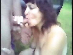NASTY Mom sucking outside