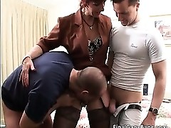 Nasty redhead MILF blows stiff rod part4