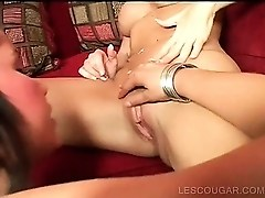 Teen and mature lesbians eating twat in sixtynine