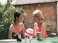 Nasty blonde and mature lesbians get part5
