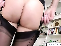Mature stockings with tight ass fucked in hot high def