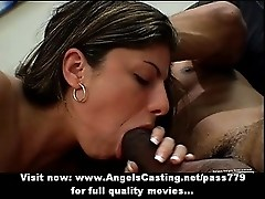 Mature brunette lady having interracial sex with a black young man