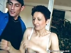 Sexy brunette MILF blows stiff cock part6