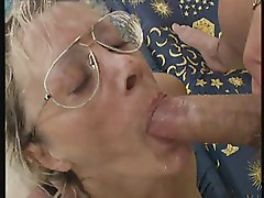 Mature in Glasses Lingerie and Stockings Doubles Up