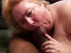 Huge white cougar sucking pierced bbc