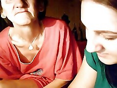 granny and teen on webcam