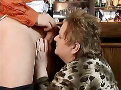 Fat Granny Fucked in a Bar