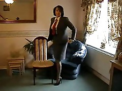 Teasing Milf in Nylon Stockings and Heels