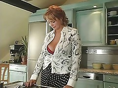 Hot Mature Redhead Suzie Banged In Kitchen