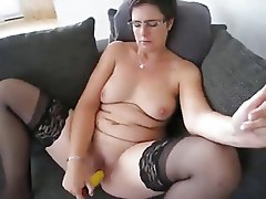 mature with toy