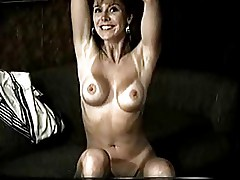 Hot escprt MILF dancing and jerking off a guy