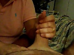 slutty mature giving me a handjob