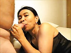 Mature Pinay slut Gina sucks.