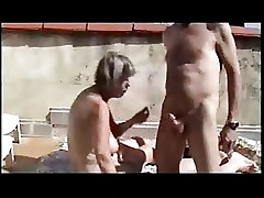 55 yo mature on her vacacions
