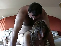 mistress,brunette with a ugly man