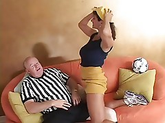 Mature Persia Monir Bangs Soccer Ref- full clip