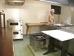 Mature woman in the kitchen