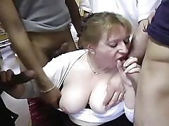 French Chubby Professor Fucked By Students